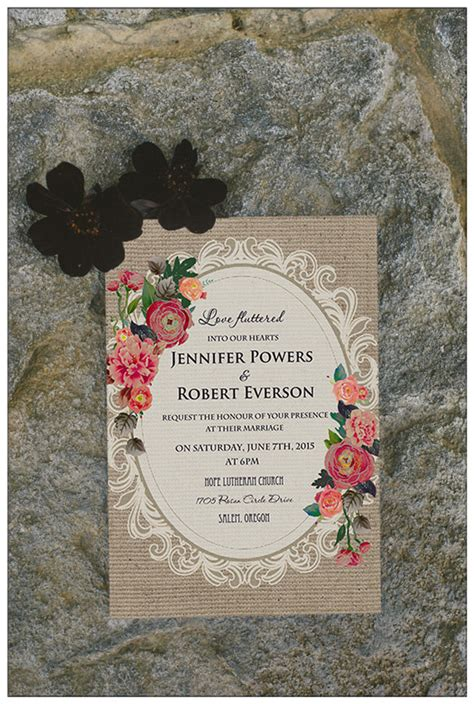 Country Themed Wedding Invitations by Top 10 Chic Country Rustic Wedding Invitations With Free