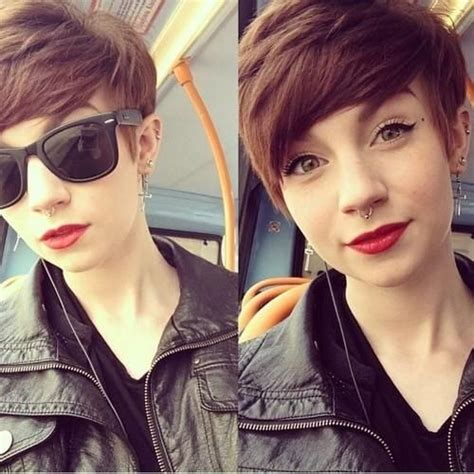 tomboyish front fringes 22 cool short hairstyles for thick hair pretty designs