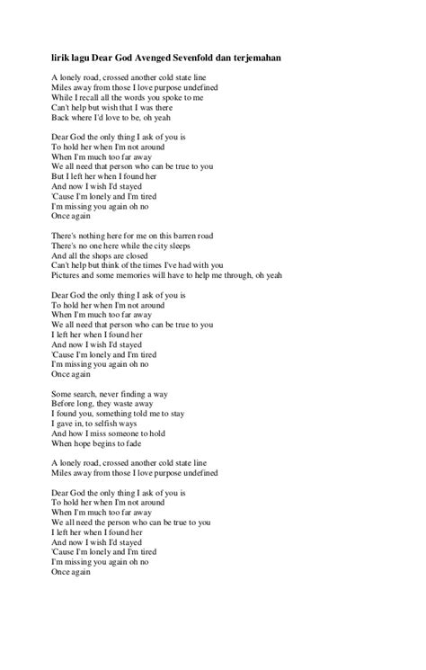 Download Video Lagu Dear God - fasrwalk