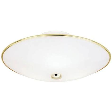 westinghouse 3 light polished brass interior ceiling semi