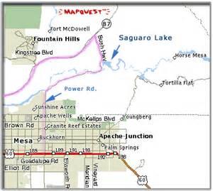 lakes in arizona map saguaro lake arizona