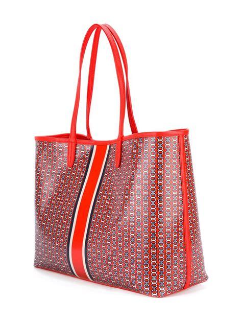Tote Bag Hitam New lyst burch large chain print tote bag in