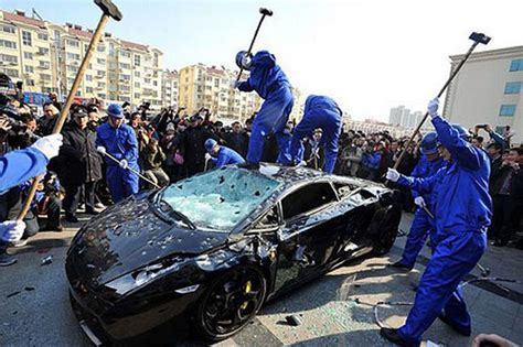 Garage Workers by Owner Has Lamborghini Trashed In Protest At Garage S Poor