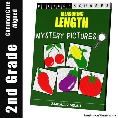 coloring book length 2nd grade measuring length mystery pictures coloring