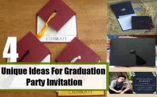 unique ideas for graduation invitation how to make graduation invitation bash corner