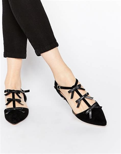 river island flat shoes river island river island pointed flat shoes with bow