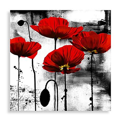 bed bath and beyond paintings buy line of poppies wall art from bed bath beyond