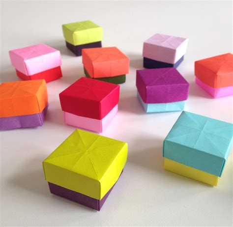 Boxes Out Of Paper - diy how to make mini paper boxes