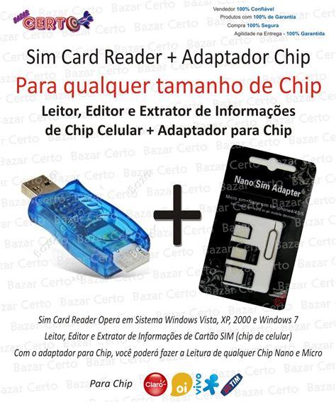 Sim Card Chip Mati leitor editor e extrator inform chip celular sim card reader r 79 97 em mercado livre