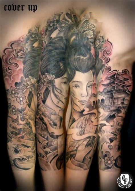 geisha tattoo cover up arm japanese geisha cover up tattoo by cosa fina tattoo