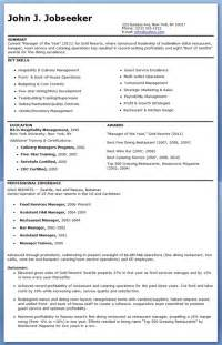 Restaurant Resume Templates Restaurant Manager Resume Search Results Calendar 2015