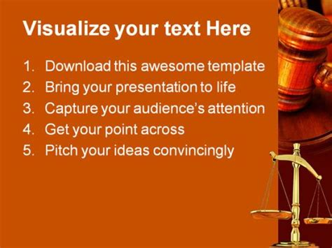 legal powerpoint templates law powerpoint template 0610