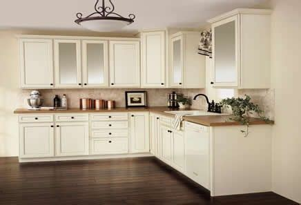 Toasted Antique Kitchen Cabinets by Aristokraft Durham Toasted Almond Kitchen Cabinets