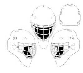 hockey goalie mask coloring recherche google coloriage