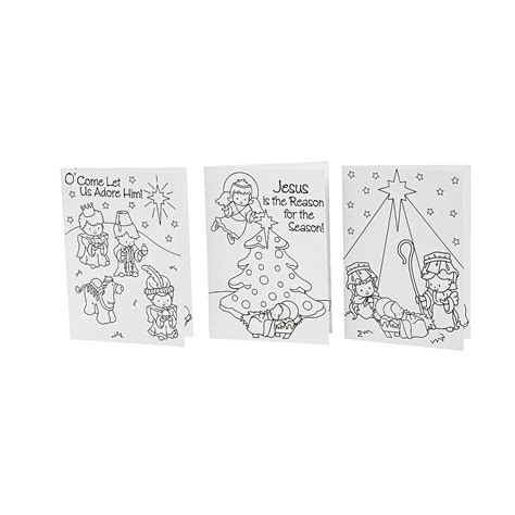 Color Your Own Cards - color your own religious cards coloring crafts