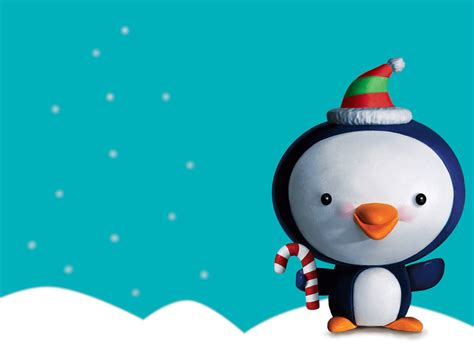 free christmas desktop wallpapers christmas penguin