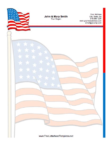 free printable army stationery paper patriotic letterhead