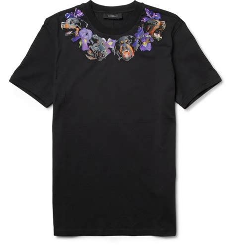 givenchy rottweiler t shirt givenchy rottweiler flower print t shirt
