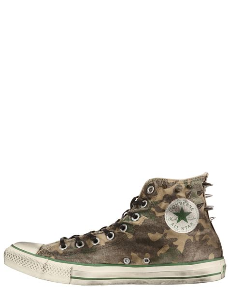 Converse Limited Edition Chair Print Shoe by Converse Limited Edition Spikes Canvas Sneakers In Black