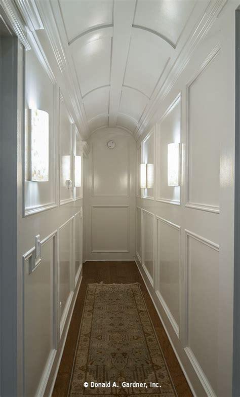 hallway  striking  intricate trim work barrel