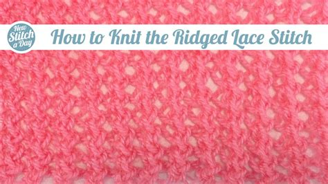how to knit the row after on the drop stitch knitting stitch 14 new stitch a day