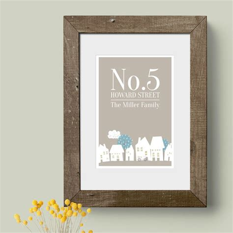 Home Prints | moving house gift personalised new home prints