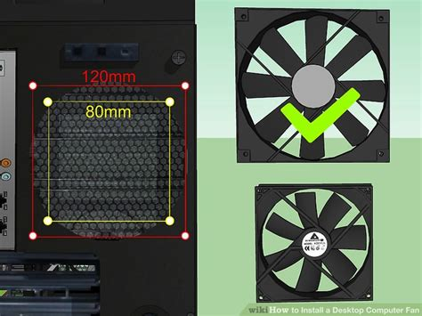 how to install a fan how to install a desktop computer fan with pictures