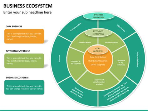 ecosystem diagram business ecosystem powerpoint template