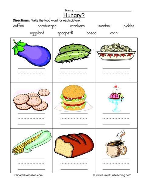healthy and junk food unhealthy worksheets sorting