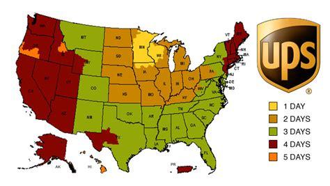 usa map ups shipping policies