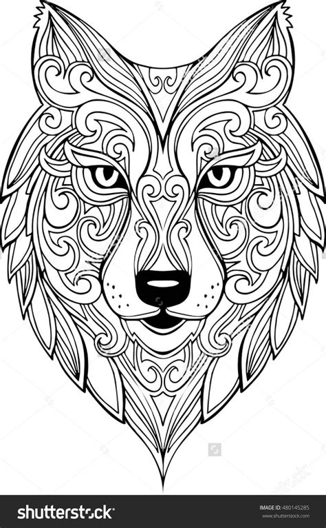 coloring page wolf head 25 best ideas about wolf head drawing on pinterest how