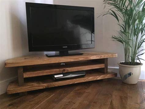 handmade   uk chunky rustic tv corner unit