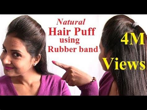 how to straitin hair with rubbervbands how to make hair using rubber bands diy bunny hair tie s