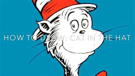 cat in the hat drawing www pixshark images