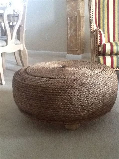 upcycle ottoman i upcycled a 26 quot used tire into an ottoman hometalk