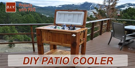 how to make a patio cooler chest doovi