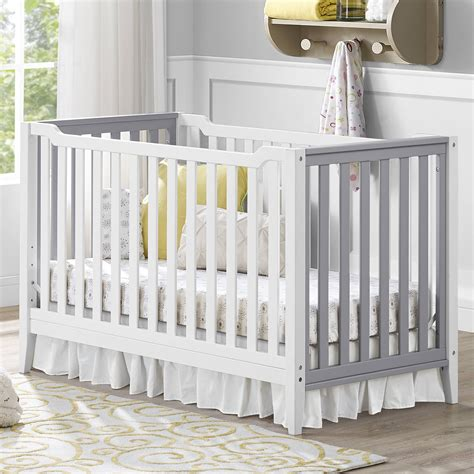 grey crib and changing table baby relax 2 in 1 crib and changing table combo gray