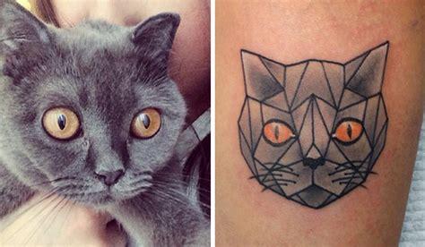 20 minimalistic cat tattoos for cat lovers bored panda