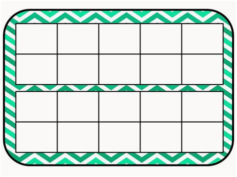 ten frame template mackey s classroom math work mats