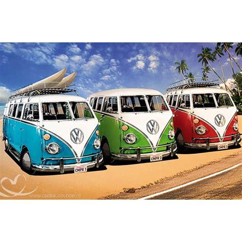 volkswagen painting painting 3 volkswagen busjes 60x40 cadeaucounter