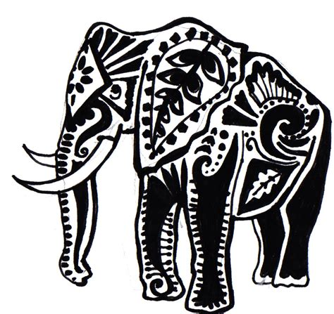elephant tribal tattoo tattootopblog trendy elephant
