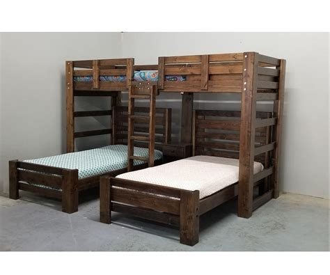 unfinished triple wall bunk bed