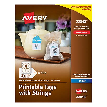 printable tags with strings for laser printer avery printable tags with strings scalloped 2 x 114 white
