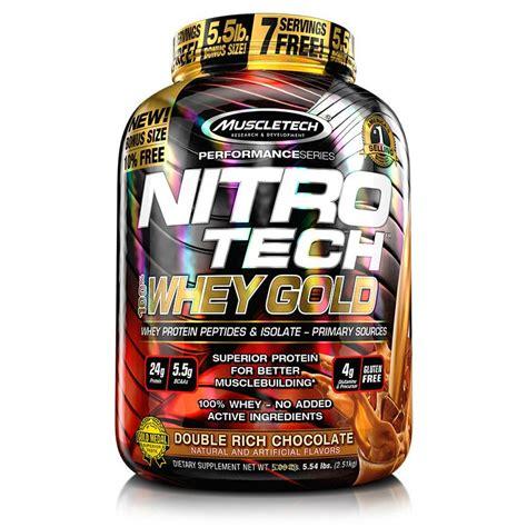 Whey Nitro Tech Muscletech Nitro Tech 100 Whey Gold 6lbs Protein