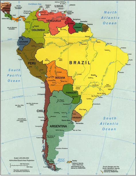 south america map bully south america map map of south america
