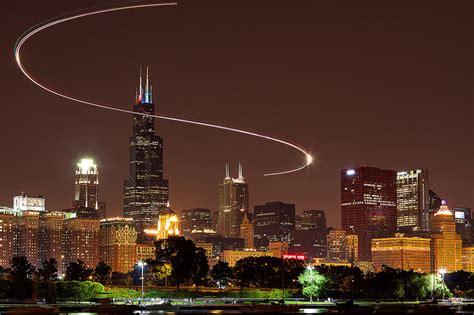Superb Christmas In Illinois #2: Chicago-Skyline-Light-Trail.jpg