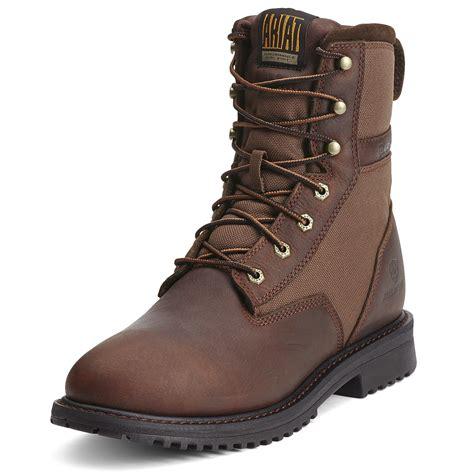 ariat waterproof boots ariat rigtek 8 inch waterproof brown boot 10012919