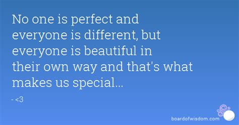 Different Is Beautiful no one is and everyone is different but everyone