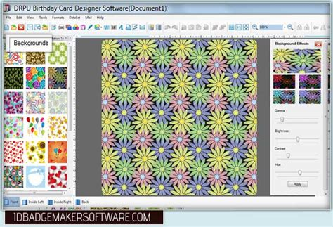 background pattern maker software screenshots of birthday cards maker software to design