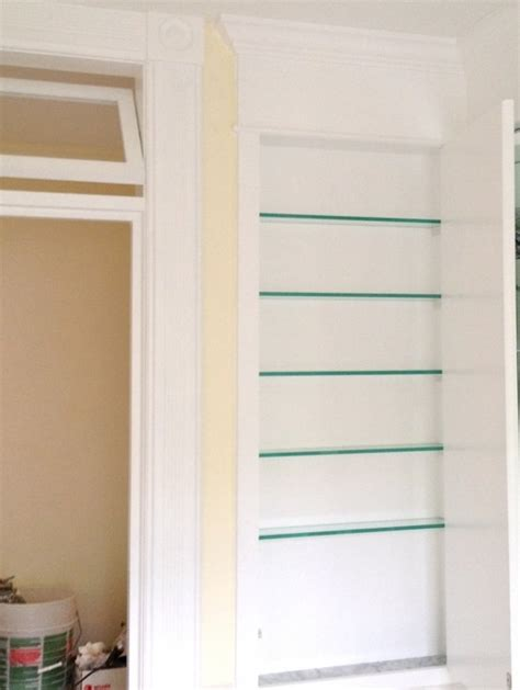 Built In Medicine Cabinet Diy diy custom medicine cabinet we built a mirrored